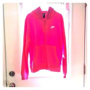 large Nike womans zip hoodie